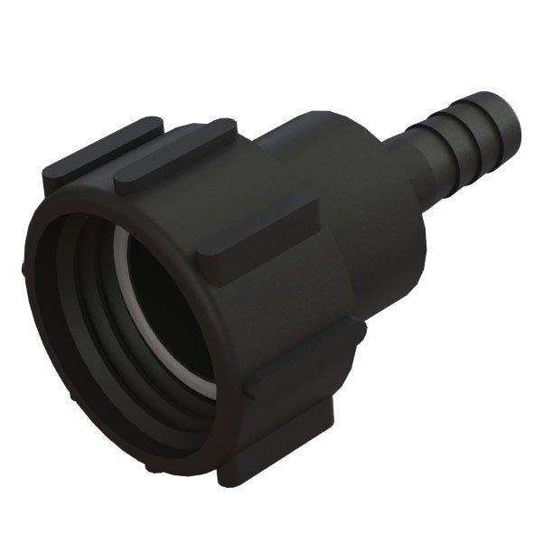 """IBC-kontin adapteri S60X6 -> ¾"""" letkukaralla"""