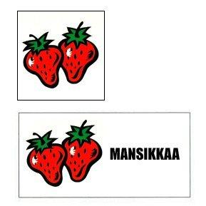 opasteita mansikanmyyntiin