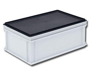 musta muovinen kansi RAKO, EUROTEC ja kokoontaittuviin laatikoihin
