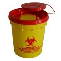 un-hyväksytty 0,6 litrainen riskijäteastia neuloille ja teräville esineille