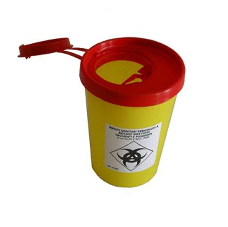 2 litrainen un-hyväksytty riskijäteastia neuloille ja teräville esineille