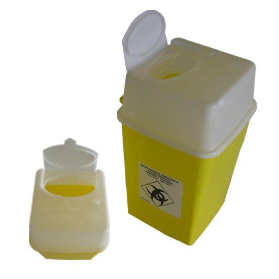 6 litrainen un-hyväksytty riskijäteastia neuloille ja teräville esineille