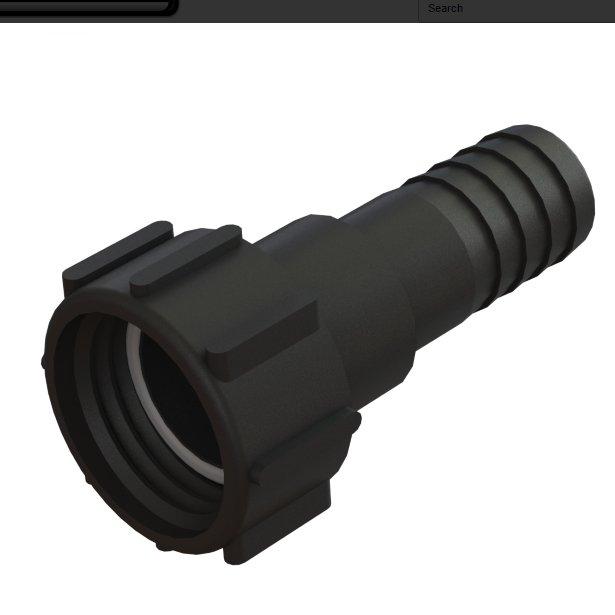 """IBC-kontin adapteri S60X6 -> 1½"""" letkukaralla"""