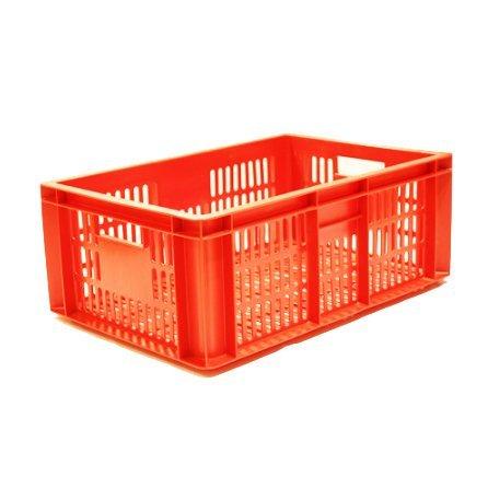 oranssi korkea ritilälaatikko leivälle tai vihanneksille