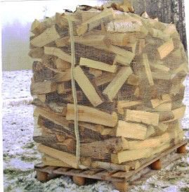 verkkosäkki polttopuulle