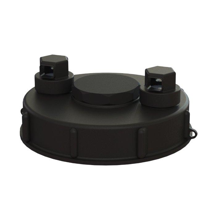 IBC-kontin täyttöaukon korkki S160x7, 2 venttiiliä