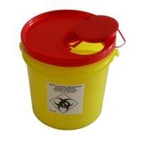 6 litrainen un-hyväksytty riskijäteastia neuloille ja terväville esineille