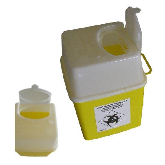 4 litrainen un-hyväksytty riskijäteastia neuloille ja teräville esineille